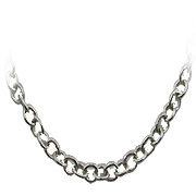 18K White Gold Link Chain