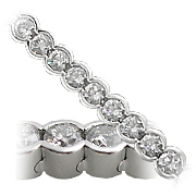18K White Gold 11.0cttw Diamond Bracelet
