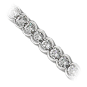18K White Gold 8.00cttw Diamond Bracelet