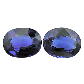 4.34 cttw Pair of Oval Sapphires : Fine Royal Blue