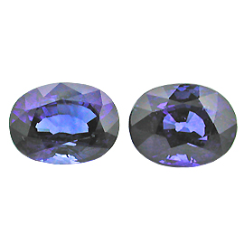 4.28 cttw Pair of Oval Sapphires : Fine Royal Blue