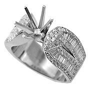 18K White Gold 1.66cttw Diamond Setting