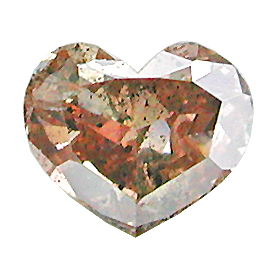 0.31 ct Heart Shape Diamond : Fancy Pinkish Brown