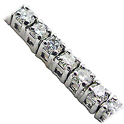 18K White Gold 2.00cttw Diamond Bracelet