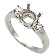18K White Gold 1/5cttw Diamond Setting