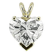 14K Yellow Gold 0.75 ct. Diamond Pendant