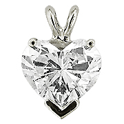 14K White Gold 1.00 ct. Diamond Pendant