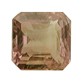 0.38 ct Emerald Cut Sapphire : Brownish Pink
