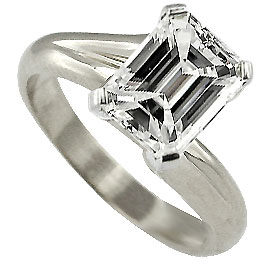 18K White Gold Solitaire Ring : 1.00 ct Diamond