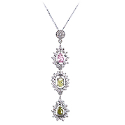 18K White Gold 1.83cttw Diamond Necklace