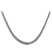 "18K White Gold 16"" Wheat Chain"