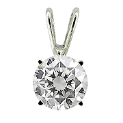 14K White Gold 0.40 ct. Diamond Pendant