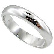 18K White Gold Lady's Wedding Band