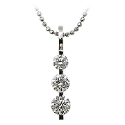 18K White Gold 0.75cttw Diamond Pendant
