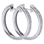 18K White Gold 0.24cttw Diamond Earrings