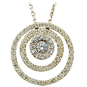 14K Yellow Gold 0.40cttw Diamond Pendant