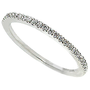 18K White Gold 0.17cttw Diamond Band