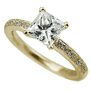 18K Yellow Gold 1.15cttw Diamond Ring
