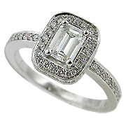 18K White Gold 0.95cttw Diamond Ring