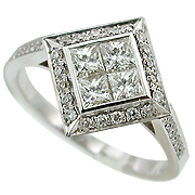 18K White Gold 0.64cttw Diamond Ring
