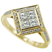 18K Yellow Gold 0.64cttw Diamond Ring