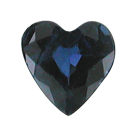 0.23 ct Heart Shape Blue Sapphire : Deep Blue