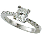18K White Gold 0.80cttw Diamond Ring