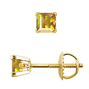 18K Yellow Gold 0.25cttw Yellow Sapphire Earrings