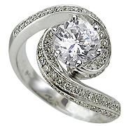 18K White Gold 2.00cttw Diamond Ring