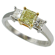 18K Two Tone 1.15cttw Diamond Ring