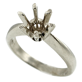 18K White Gold Solitaire Setting