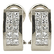 18K White Gold 1.10cttw Diamond Earrings