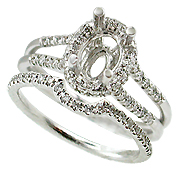 18K White Gold 0.47cttw Diamond Setting
