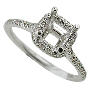 18K White Gold 0.40cttw Diamond Setting