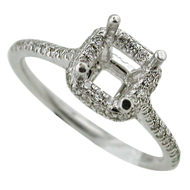 18K White Gold Multi Stone Setting : 0.40 cttw Diamonds