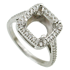 18K White Gold Multi Stone Setting : 0.35 cttw Diamonds