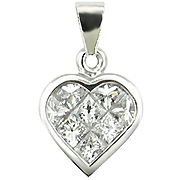 18K White Gold 0.60cttw Diamond Pendant