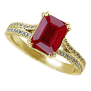 18K Yellow Gold 2.00cttw Ruby & Diamond Ring
