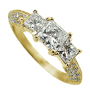 18K Yellow Gold 1.20cttw Diamond Ring