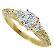18K Yellow Gold 1.45cttw Diamond Ring
