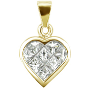 18K Yellow Gold 0.60cttw Diamond Pendant