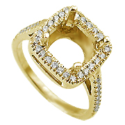 18K Yellow Gold 0.35cttw Diamond Setting