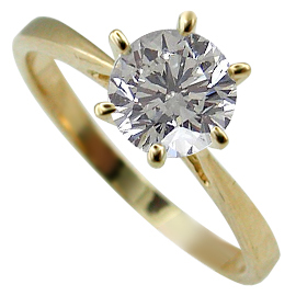 18K Yellow Gold Solitaire Ring : 1.00 ct Diamond