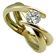 18K Yellow Gold 0.20ct Diamond Ring