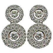 18K White Gold 2.00cttw Diamond Earrings
