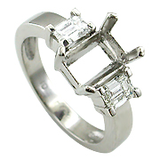 Platinum 3/4cttw Diamond Setting