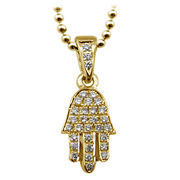 18K Yellow Gold 0.22cttw Diamond Pendant