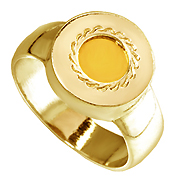 "14K Yellow Gold  ""5 Elements Metals""  Kabbalah Ring"