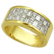 18K Yellow Gold 1.65cttw Diamond Band