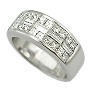 Platinum 2.00cttw Diamond Band